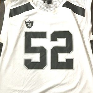 NIKE Raiders Mens Football Jersey Large MACK #52